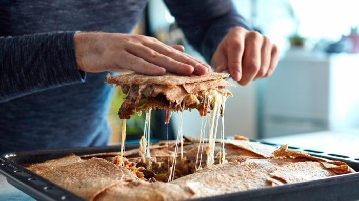 Quesadilla de pollo y ternera al horno