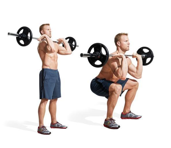 posizione delle gambe nello squat