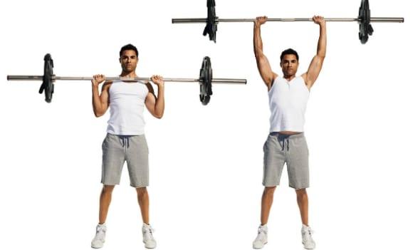 como aumentar a força muscular press militar