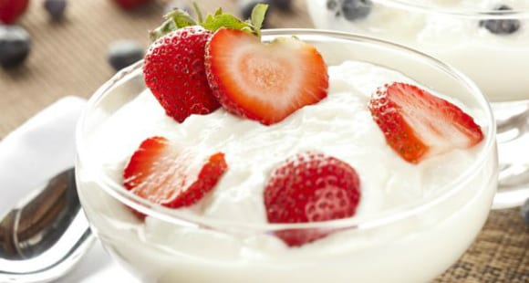 O que comer antes de correr iogurte