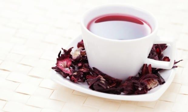 chá de hibisco para emagrecer