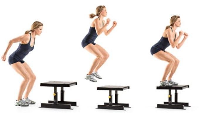 treino pliométrico box jumps