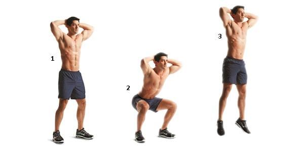 treino pliométrico squat jumps