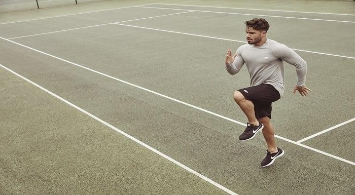 Atleta a fazer exercício