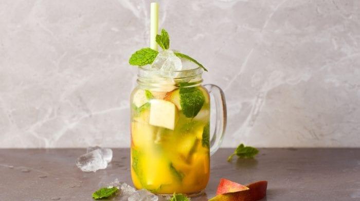 Mocktail de BCAAs de pêssego e manga