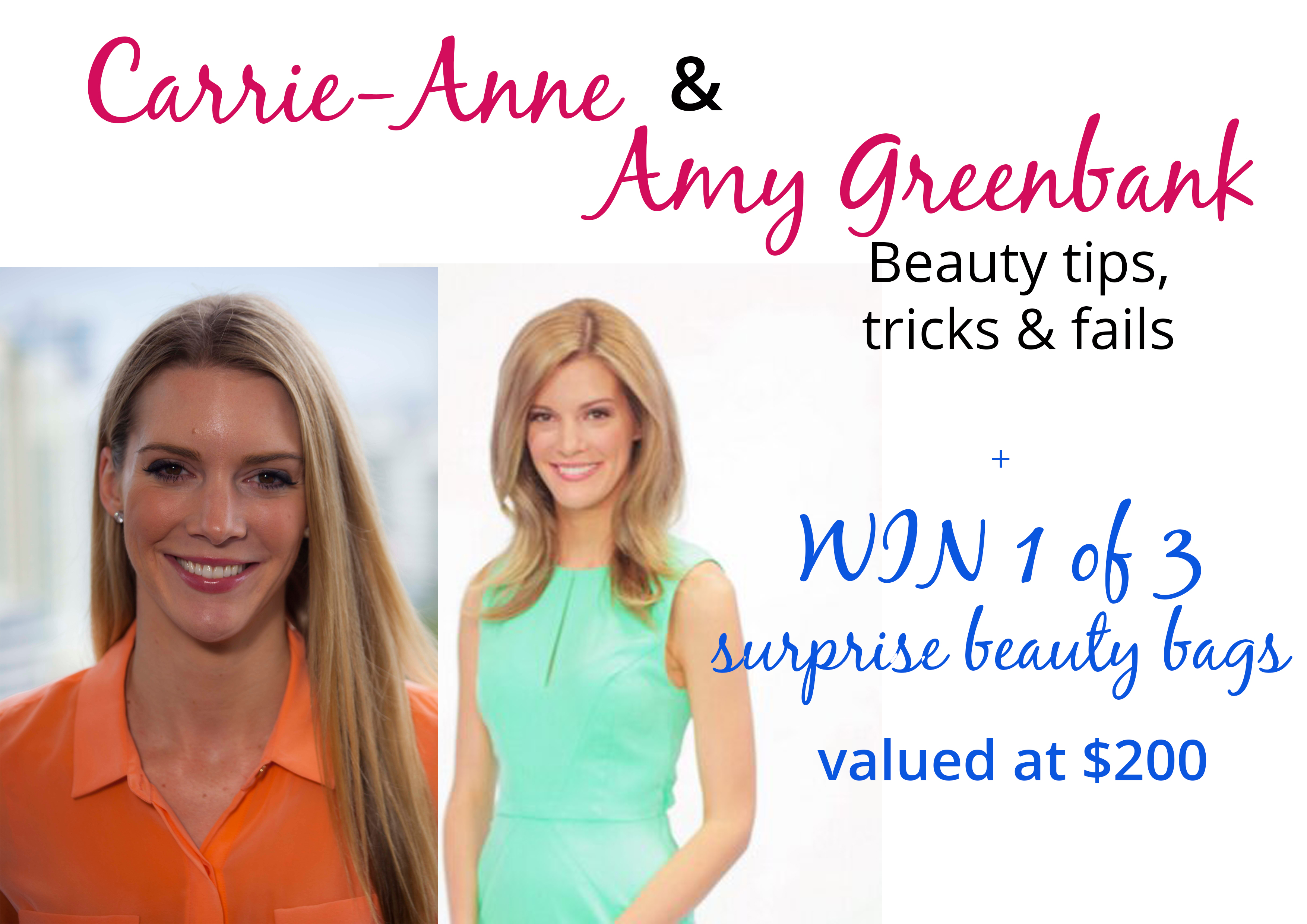 The Greenbank twins beauty tips & WIN 1 of 3 surprise beauty bags valued at over $200