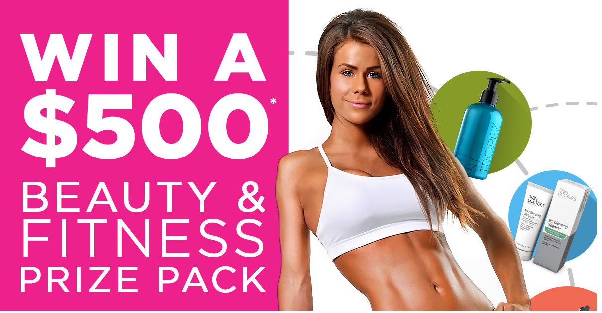 Win $500 Sophie Guidolin Beauty and Fitness Prize Pack