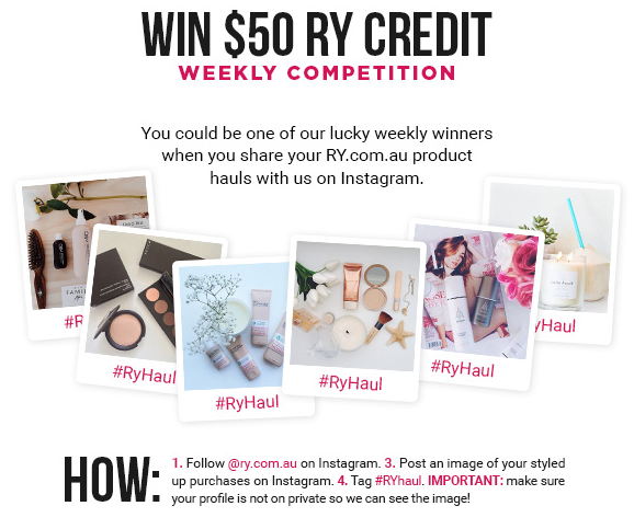 #ryhaul Chance to WIN $50 to spend in store EVERY MONTH