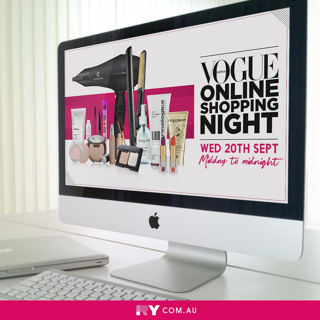 Vogue Online Shopping Night x RY computer
