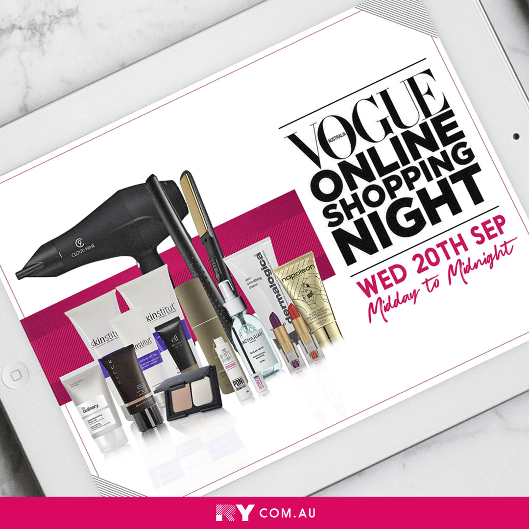 Vogue Online Shopping Night x RY tablet