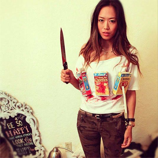 Last minute Halloween costumes puns play on words cereal killer