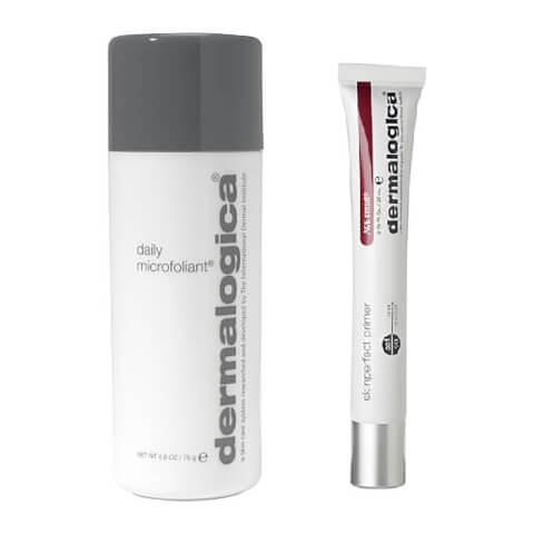 Dermalogica skincare duo Daily Microfoliant SkinPerfect Primer SPF30