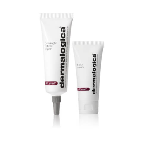 Dermalogica skincare duo Overnight Retinol Repair and Buffer Cream