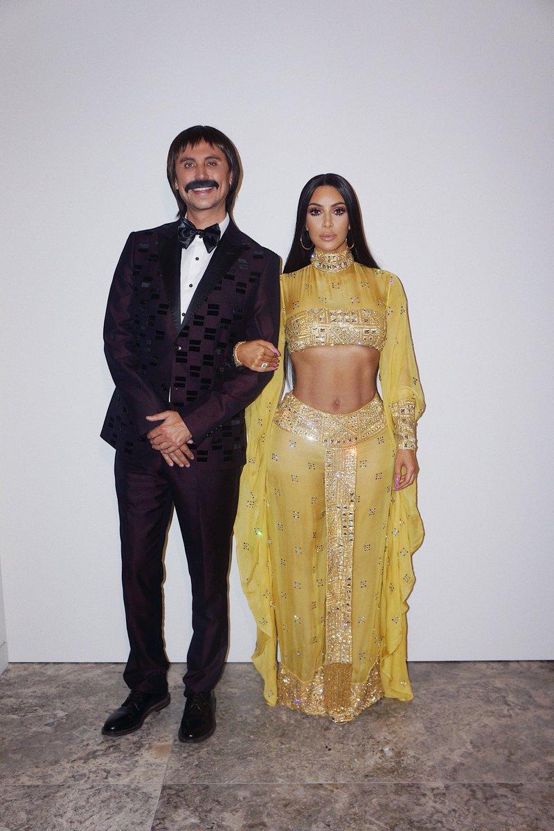 Kim Kardashian Jonathan Cheban Halloween Costume 2017 Sonny and Cher