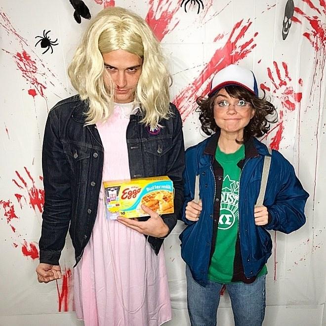 Sarah Hyland Halloween Costume 2017 Stranger Things Eleven Wells Adam