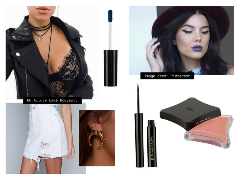RY Illamasqua and Beginning Boutique Edgy Daring Look makeup outfit