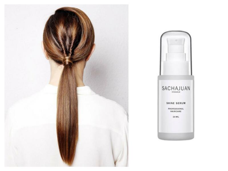 Falls Festival Shine Spray Hair sleek ponytail RY