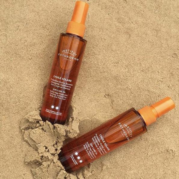 Institut Esthederm Sun Care Oil for Hair and Face tan optimiser SPF