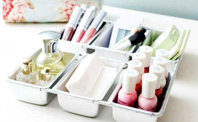 New Year's resolution declutter makeup collection