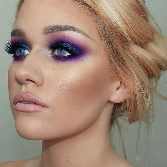Pantone Colour of the Year makeup eyeshadow look Ultra violet