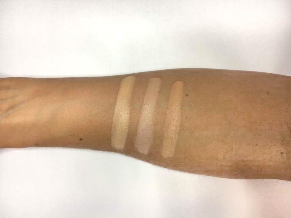 Illamasqua foundation review Skin Base swatches