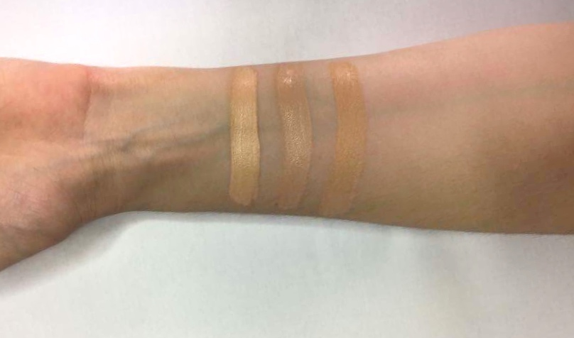 Illamasqua foundation review Rich Liquid Foundation swatches