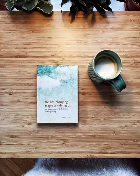Minimalist makeup Marie Kondo The Life-changing Magic of Tidying Up book