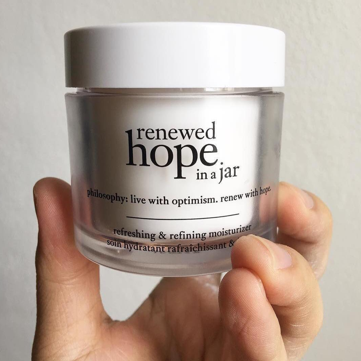 Skin detox lock in hydration Philosophy Renewed Hope in a Jar moisturiser