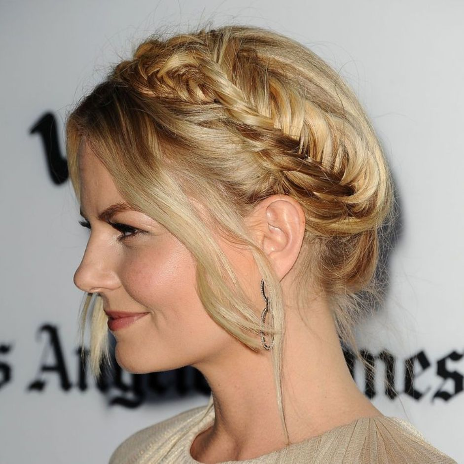 Back to school hairstyles easy fishtail plaited crown Jennifer Morrison