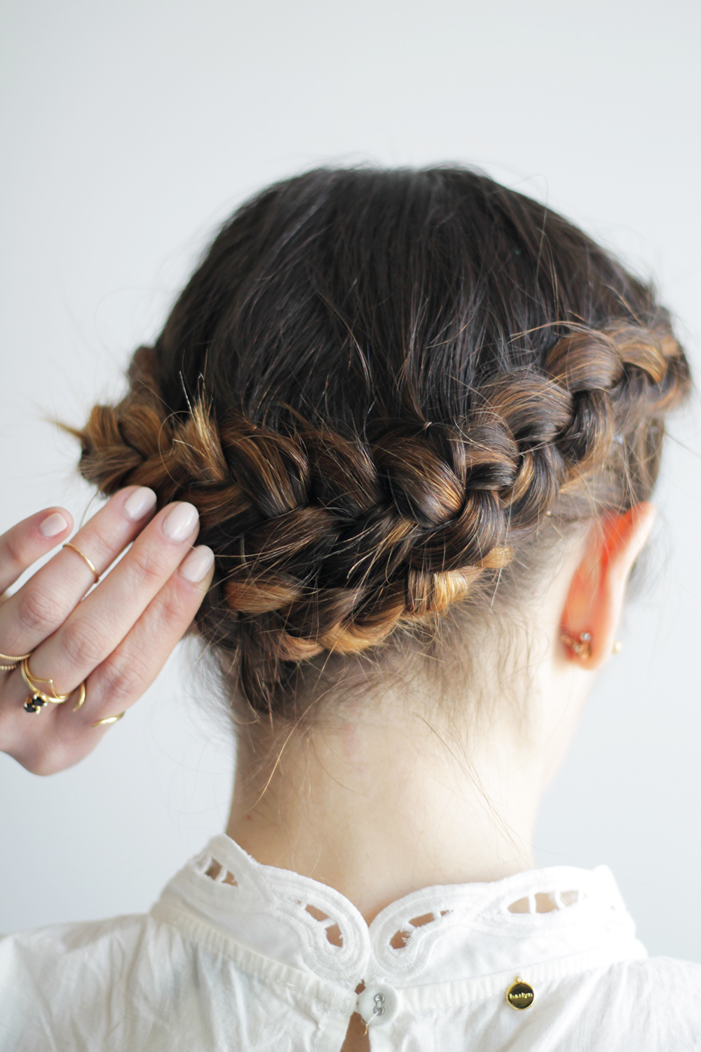 Back to School hairstyles easy plaited crown braid