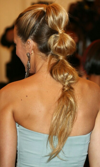 Back to school hairstyles Blake Lively bubble ponytail
