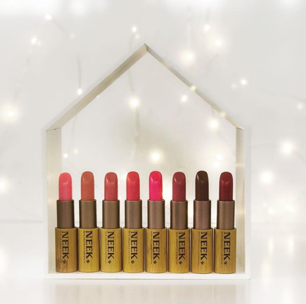 NEEK Skin Organics cruelty-free vegan natural lipsticks makeup