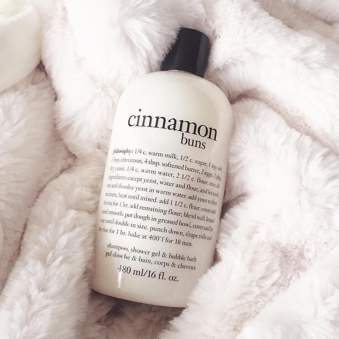 Self-care routine Philosophy Cinnamon Buns Bath and Shower Gel
