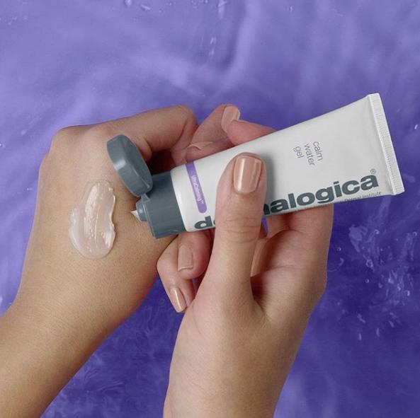 Dermalogica Calm Water Gel Ultracalming range swatch