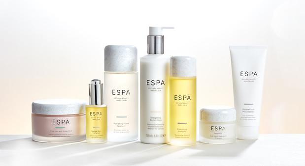 ESPA skincare Group Shot bestsellers