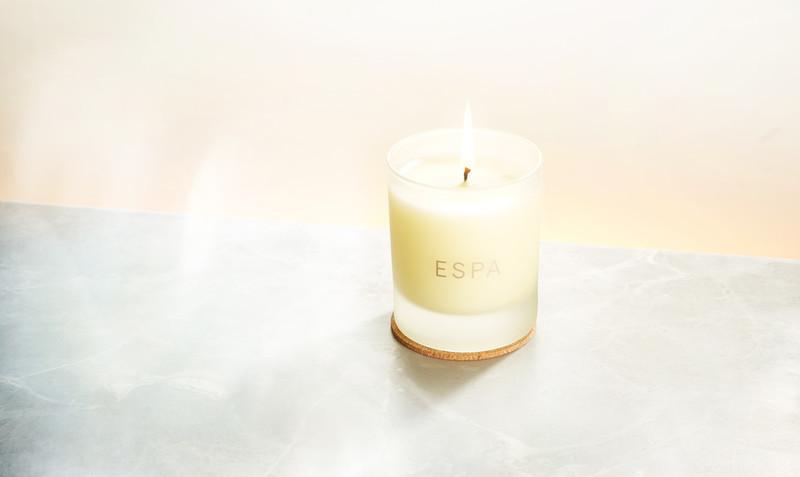 ESPA skincare spa candle