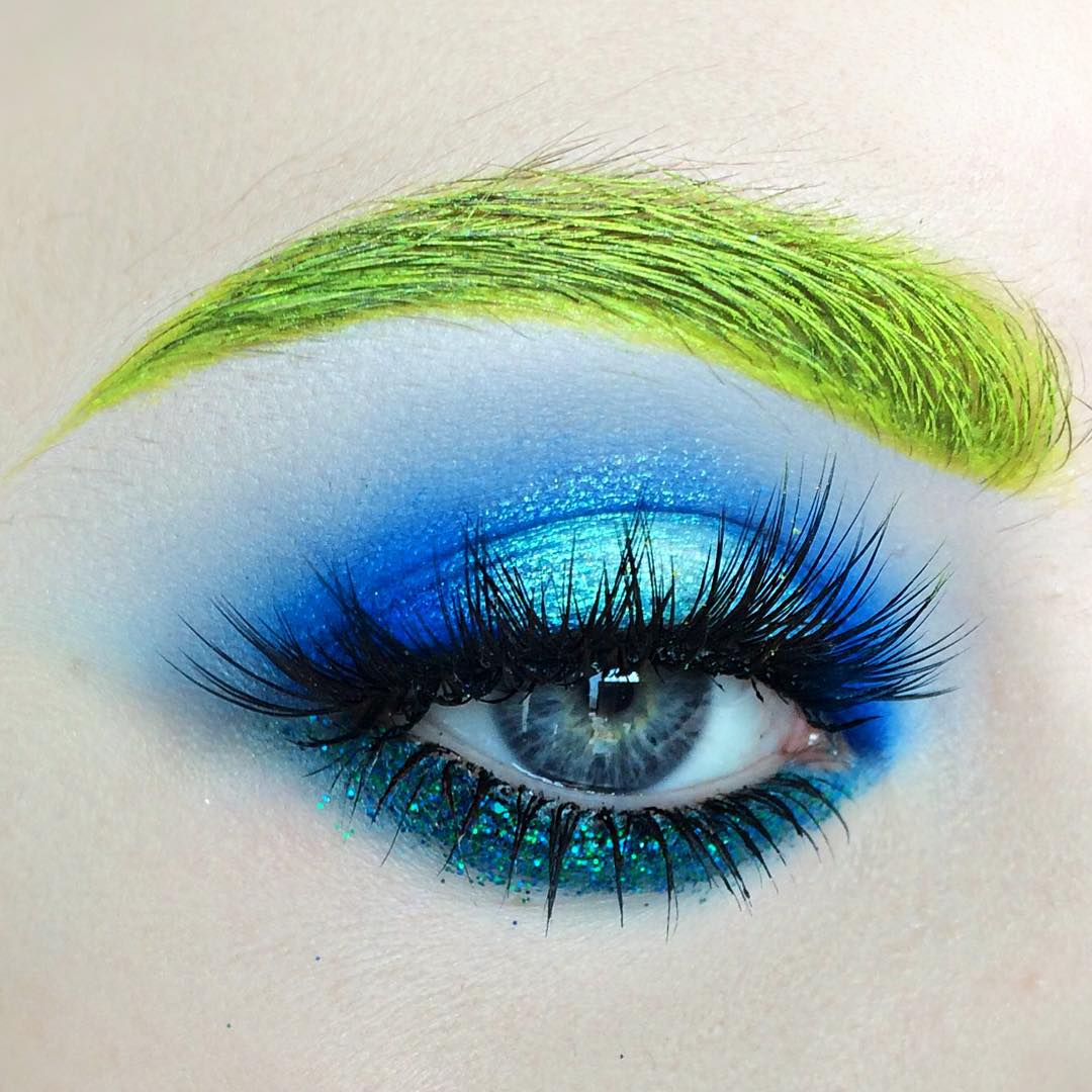 Coloured Eyebrows High Fashion Eye Makeup Looks