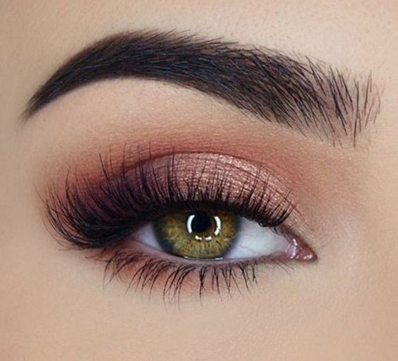 Rose Gold Eye Look Taurus Horoscope Beauty