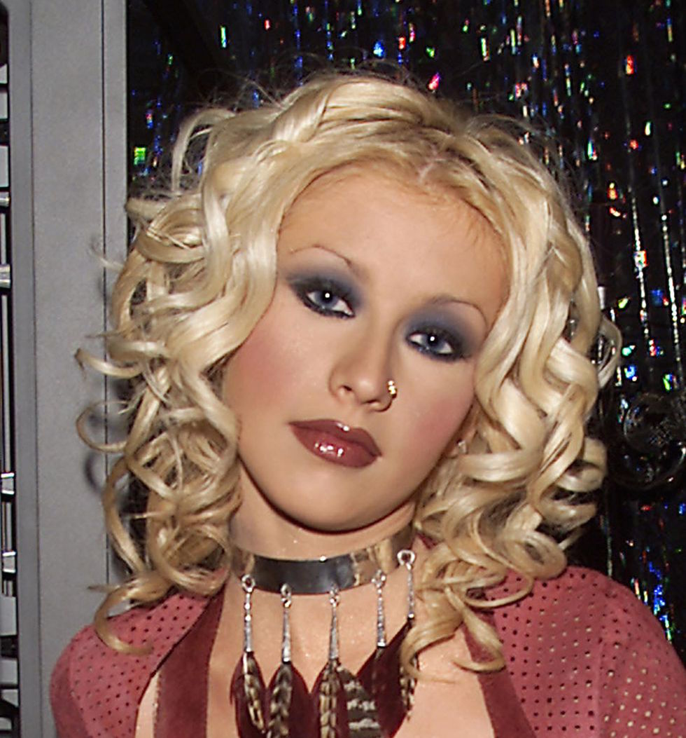 2000s Beauty Trends Brick Red Lipstick Christina Aguilera