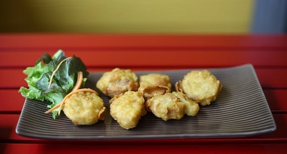 patate-douce-nuggets-de-poulet-purée-de-chou-fleur-barre-de-cereale-2