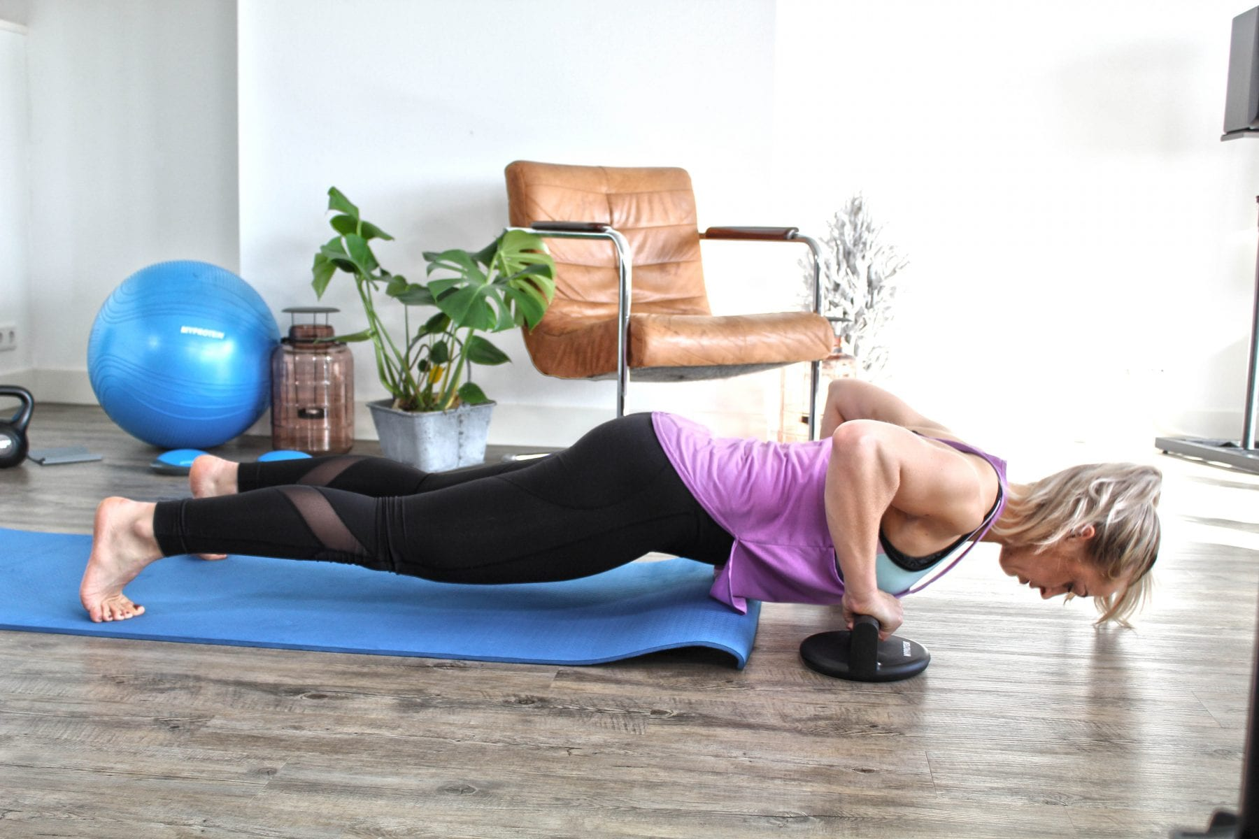 full body home workout push up female vrouwen
