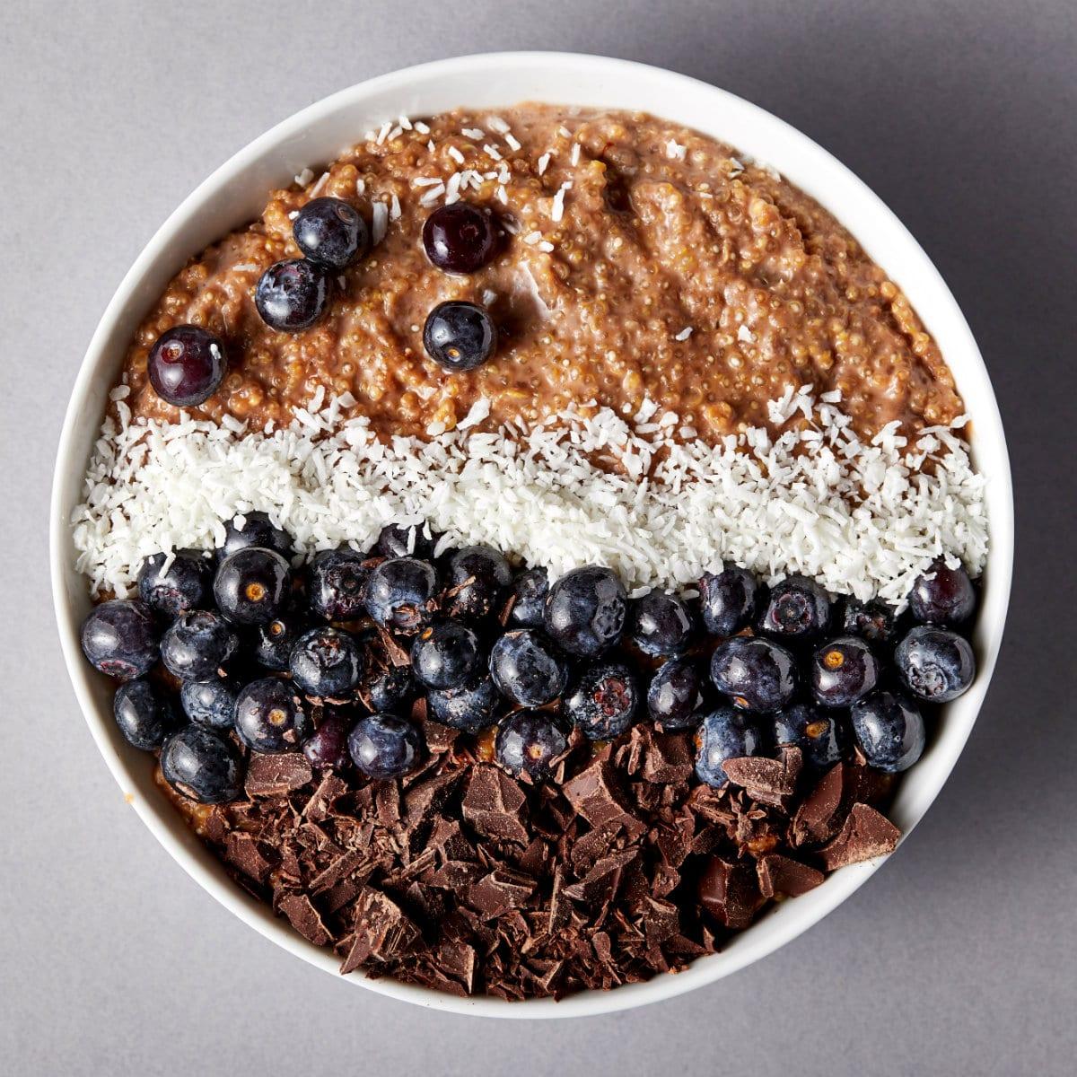 Quinoa-Bowl Recept - Quinoa Bowl Chocolade