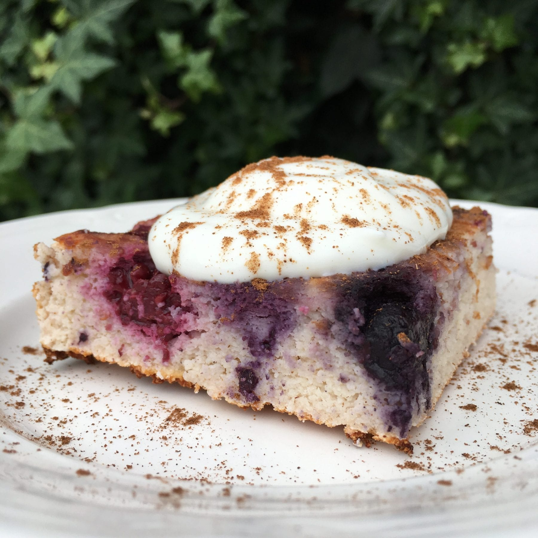 Berry Coconut Upside Down Cake