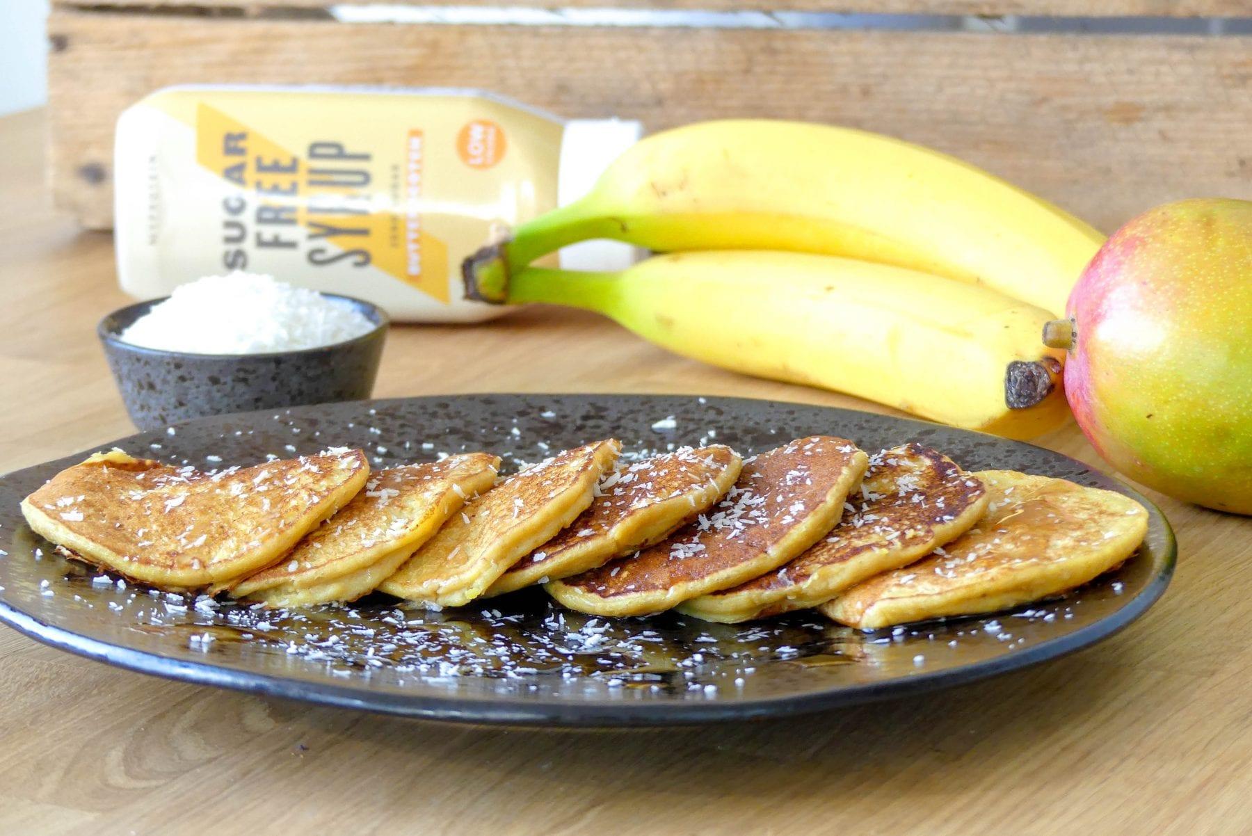 Mango-bananen pannenkoekjes