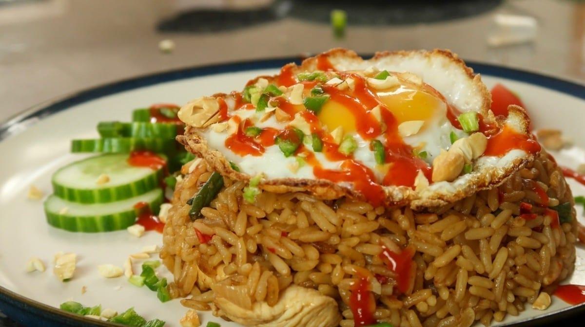 Chicken & Rice Stir Fry | Nasi Goreng