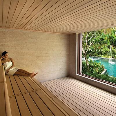 The sauna at ESPA at Resorts World Sentosa