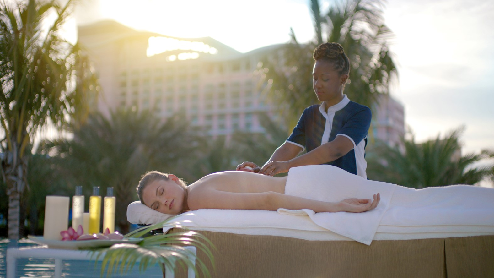 Outside spa treatment, ESPA at Baha Mar