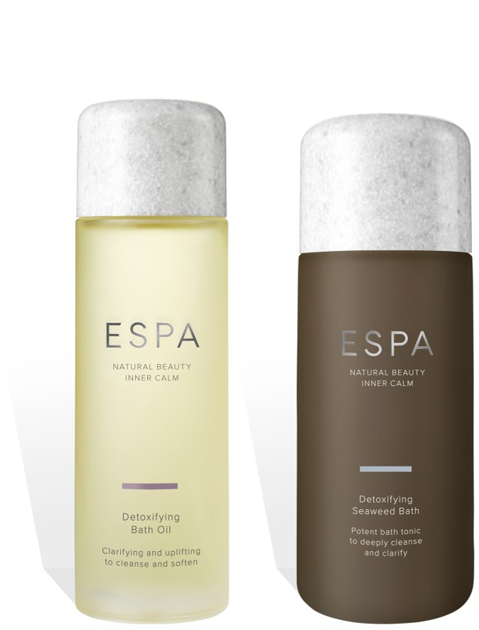 ESPA Detoxifying Bath Oil and Detoxifying Seaweed Bath