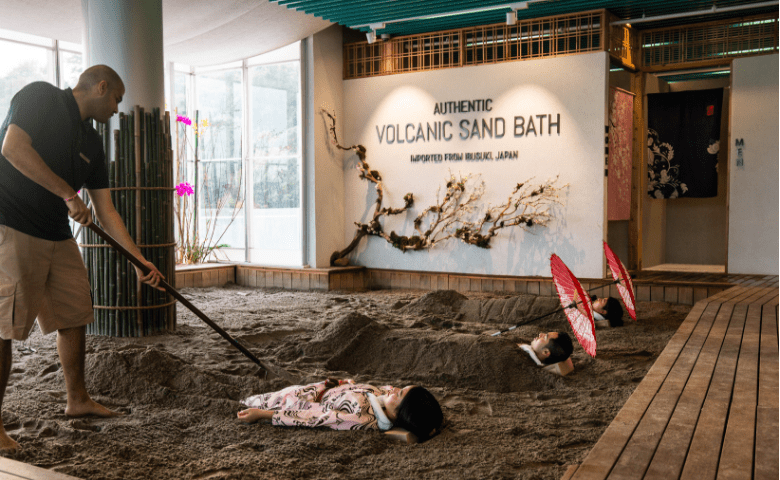 Authentic Volcanic sand bath