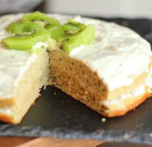 Protein Banana and Kiwi Cake